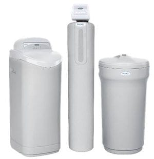 three white air purifiers